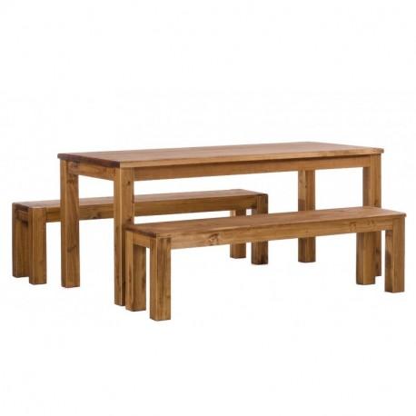 Brasilmöbel Tisch Rio Classico 180x80 + 2 Bänke 180x80