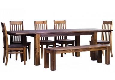 Brasilmöbel Tisch Rio Classico 180x90 + 4 Stühle + Bank Bonito